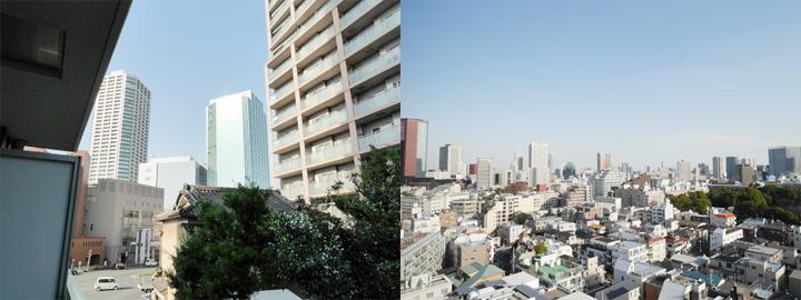 同一マンションの眺望比較