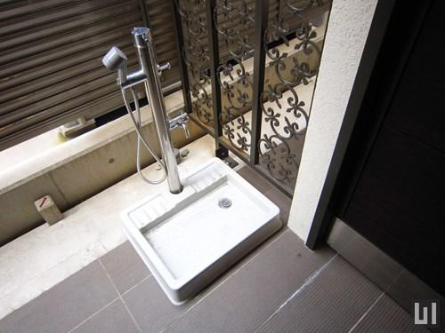 ペット専用足洗い場