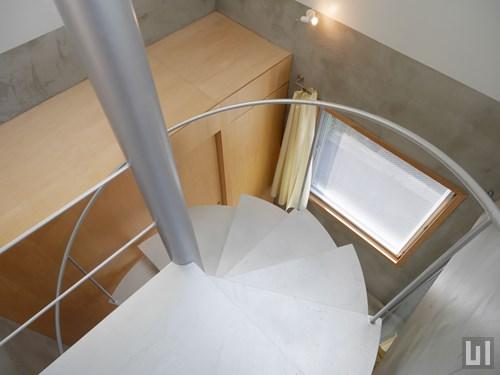 1R 40.27㎡タイプ - らせん階段