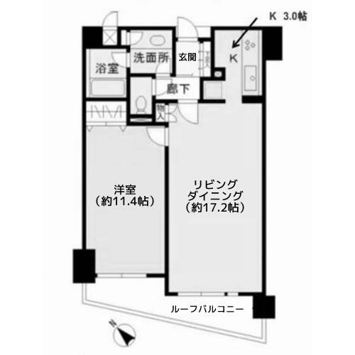 ヒューリック目黒三田 - 間取り図