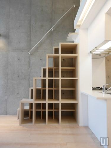 Bタイプ - 階段兼収納棚